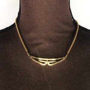 GIVENCHY Vintage Gold Tone GG Logo Necklace